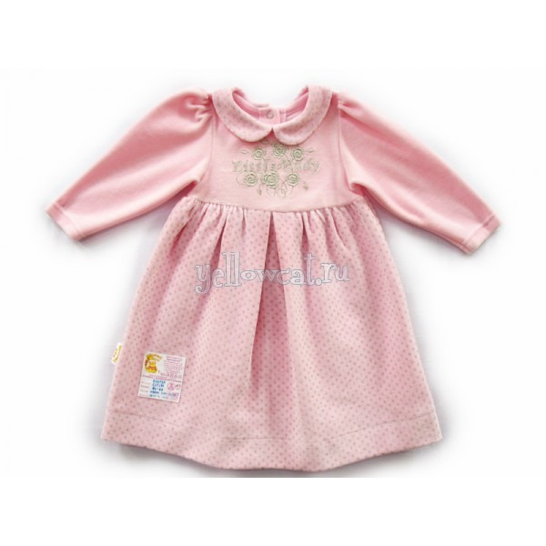 теплое платье для новорожденной девочки