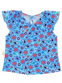 238к Топ для девочек голубой