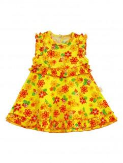 Платье 705/1к жёлтое