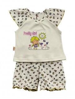 Пижама 610к молочный