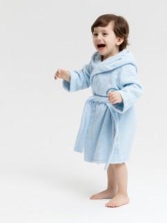 Халат банный для малышей 613м голубой